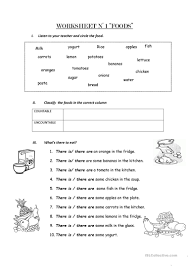 Count And Noncount Nouns Exercises Elementary Count And Non Count Nouns Worksheet Free Esl Printable