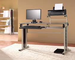 Modern Glass Office Desk by Furniture Modern Wooden Desk With 3 Drawers By Plummers Furniture