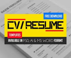 Cv Resume Template Free Download Fresh Free Professional Cv Resume Templates Freebies Graphic