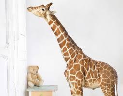 Giraffe Wall Decals For Nursery Fantastic Giraffe Wall Also Etsy Animal Print For Nursery