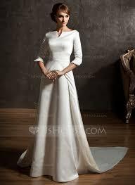 a linie u ausschnitt watteau falte chiffon brautkleid mit applikationen spitze ruschen p853 a line princess the shoulder watteau satin wedding dress