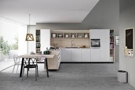 cuisine sol blanc cuisine bois et blanc moderne 25 idées d aménagement