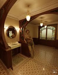 art nouveau bathroom 3d models and 3d software by daz 3d