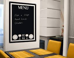 menu chalkboard your decal shop nz designer wall art decals menu chalkboard