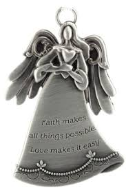 personalized engraved faith pewter ornament