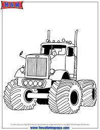 Big Rig Monster Truck Boys Coloring U0026 Coloring Pages