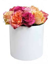 multicolor roses white box of multicolor roses flowerscity