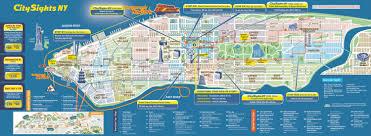 detailed map of new york map of manhattan new york city major tourist