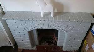 blue painted brick fireplace wpyninfo