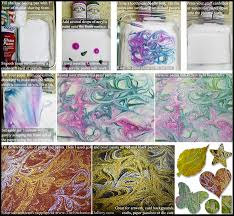 five easy ways to create marbled paper fabric or swirled paint