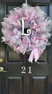 large mesh ribbon wreath baby shower nursery hospital