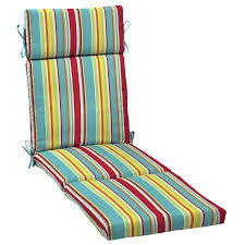 Chaise Lounge Cushions Mainstays Multi Stripe Outdoor Patio Chaise Lounge Cushion