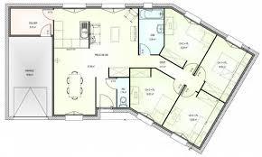 plan maison plain pied en l 4 chambres plan maison plain pied 100m2 3 chambres gallery of ordinaire
