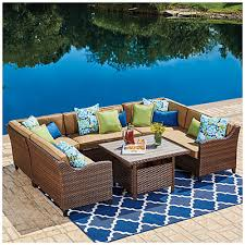 Wilson And Fisher Patio Furniture Manufacturer Wilson U0026 Fisher Barcelona 3 Piece Resin Wicker Glider Chairs And