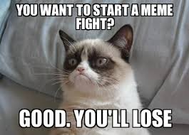 Cat Fight Meme - grumpy cat spring you want to start a meme fight good you ll