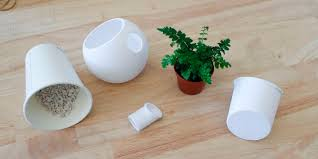 Small Self Watering Pots Avoid Killing Houseplants With This Sleekly Designed And 3d