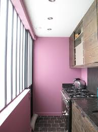 purple kitchen decorating ideas wooden floating cabinet for minimalist kitchen design