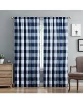 Blue Buffalo Check Curtains Plaid Check Curtains Drapes Bhg Shop