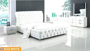 White Leather Bedroom Furniture Modern White Leather Bedroom Furniture Black Leather Bed White