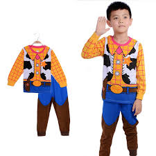Woody Halloween Costumes Toy Story Woody Boys Pajama Fantasia Cartoon Long Sleeve