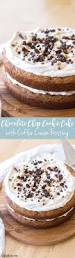 chocolate chip cookie cake with coffee cream frosting recipe