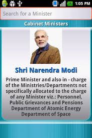 Portfolio Of Cabinet Ministers Of India Union Ministers Of India Android Apps On Google Play