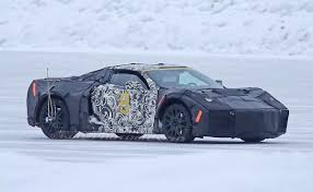 newest corvette engine chevrolet s midengine corvette hits the winter test track