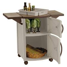 Bar Storage Cabinet Suncast Dcp2000 Outdoor Prep Station Hayneedle
