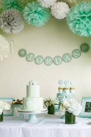 my mint grey white and elephant themed baby shower hanna