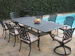 amazon com cast aluminum outdoor patio furniture 9 piece extension