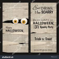 halloween party background invitation design halloween party mummys big stock vector