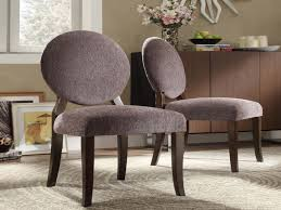 furniture round back dining chairs awesome armless accent chair
