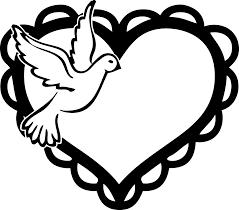 white dove clipart heart pencil and in color white dove clipart