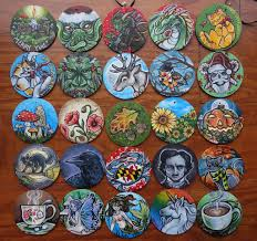 painted wooden ornaments by flos abysmi on deviantart