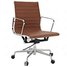 furniture brown leather office chair from eames chair replica for