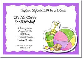 pastel beach kids party invitations beach invitations pool