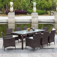 Rattan Patio Furniture Rattan Garden - ikayaa 9pcs rattan outdoor patio dinning table set cushioned sales