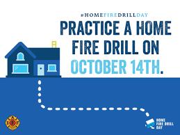 home fire drill social media graphics