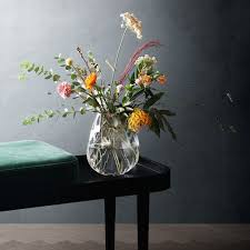 unusual vases buy georg jensen facet glass vase amara