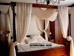 poster bed canopy four poster bed and canopy for romantic bedroom