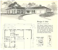 1960s ranch house floor plans with bat u2013 readvillage