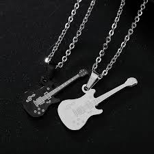 guitar necklace jewelry images Amgjdk titanium steel hiphop guitar necklace for men women rock jpg
