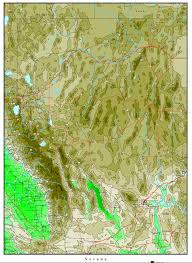 Arizona Strip Map by Nevada Elevation Map