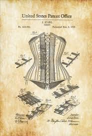 corset patent vanity decor girls gift fashion art girls room