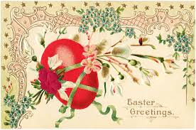 pretty vintage easter clip art the graphics fairy