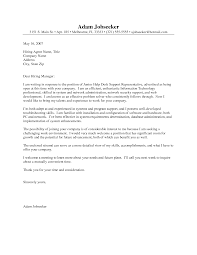 best ideas of information technology support cover letter for your