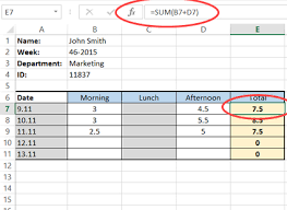 Automated Timesheet Excel Template How To Create A Simple Excel Timesheet A Visual Guide