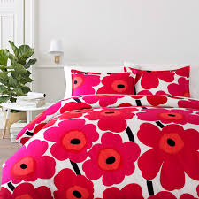Cincinnati Reds Bedroom Ideas Marimekko Unikko Red Bedding Unique Wedding Gift Ideas