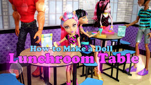 diy how to make doll lunchroom table back to