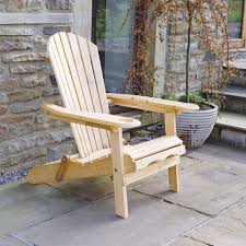 Patio Wooden Chairs Patio Wooden Adirondack Arm Chair Lounger With Leg Rest